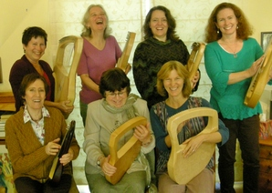 Lyre group laughing